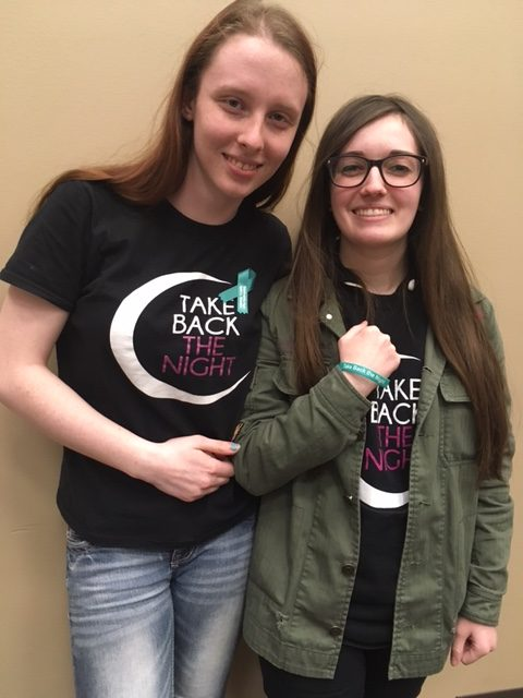 Megan+Bednaroski%2C+left%2C+and+Amber+Steiger+are+among+the+students+planning+events+for+Sexual+Violence+Awareness+at+MCC.