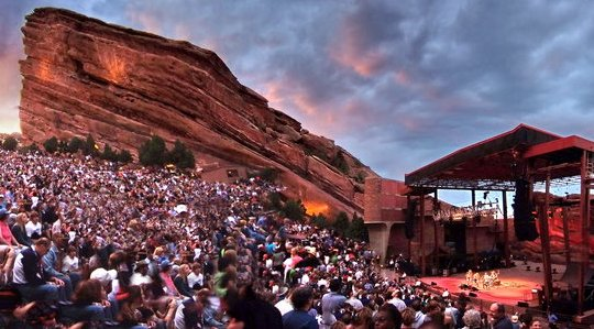 The Red Rocks Amphitheatre near Denver