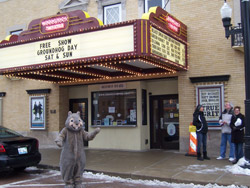 Woodstock Theater is one of the sites to see to mark Groundhog Day