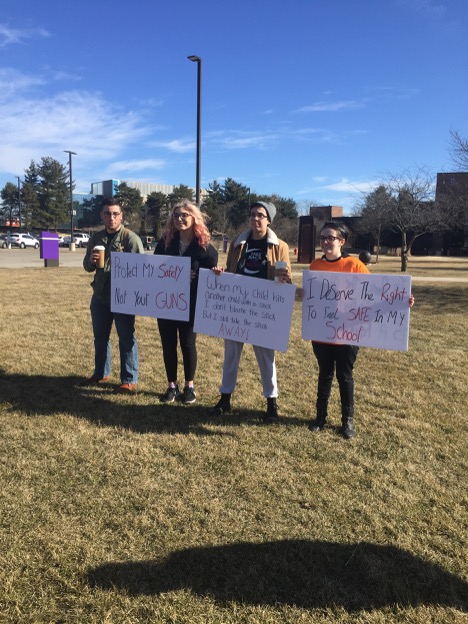 MCC students joined protests across the country on March 14.