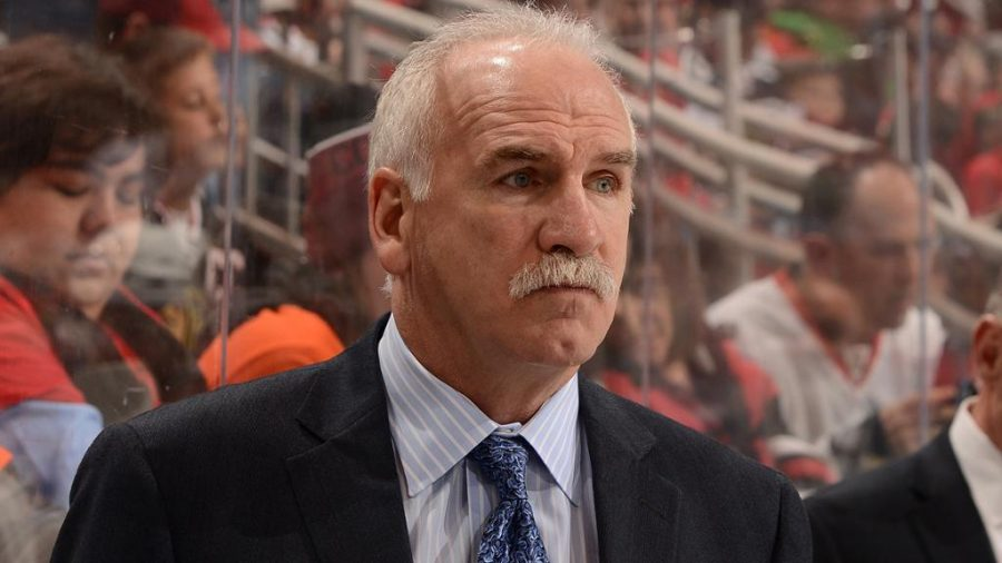 NHL+photo%0AFormer+Hawks+coach+Joel+Quenneville