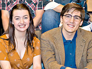 Rhiannon Palmer (left) played Trudy and  Sean Plotts was Max in a recent MCC production.
