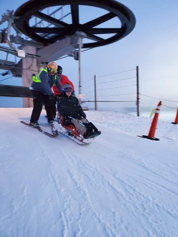Sports like skiing are adapted for athletes with mobility issues.