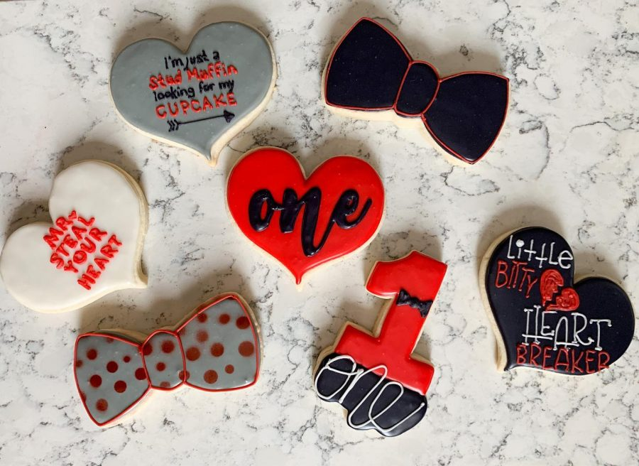 Valentine's Day treats by Jackie's Crazy Cookies