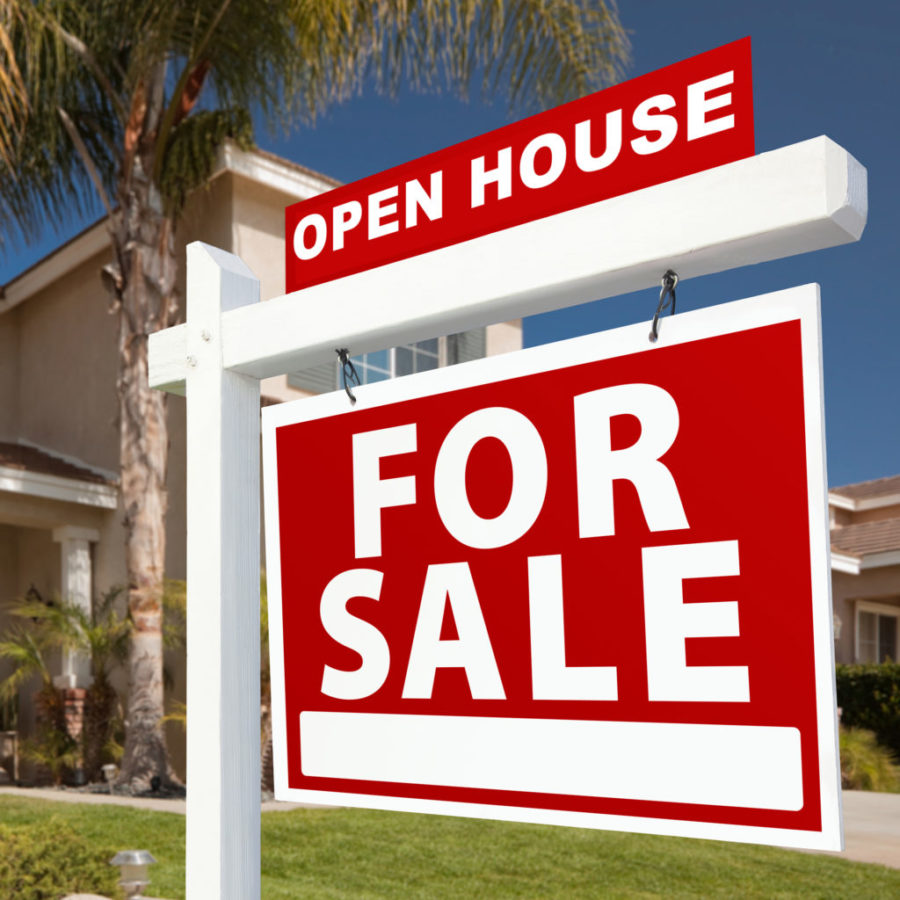 Short+Sale+Home+For+Sale+Real+Estate+Sign+and+House+-+Right+Side.