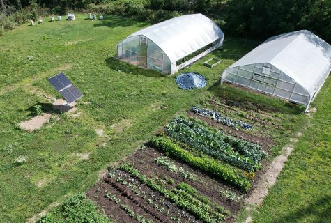 Solar array added to aid campus  crops